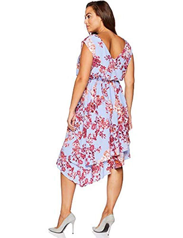 d5848aeb075 Lyst - Adrianna Papell Size Plus Barque Summer Floral Dress - Save 65%