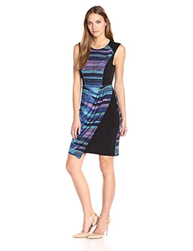 ec5b79ae237 Lyst - BCBGMAXAZRIA Bcbgmax Azria Aaliyah Dress in Blue - Save 8%
