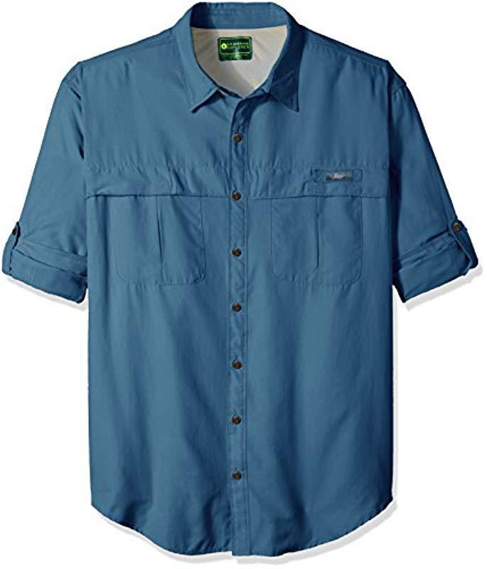 8abde89afcb G.H.BASS. Men's Blue Big And Tall Explorer Survivor Long Sleeve Point  Collar Fishing Shirt