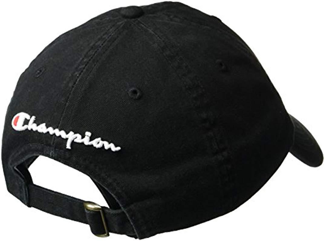 Lyst - Champion Father Dad Adjustable Cap in Black for Men a622f70c07b8
