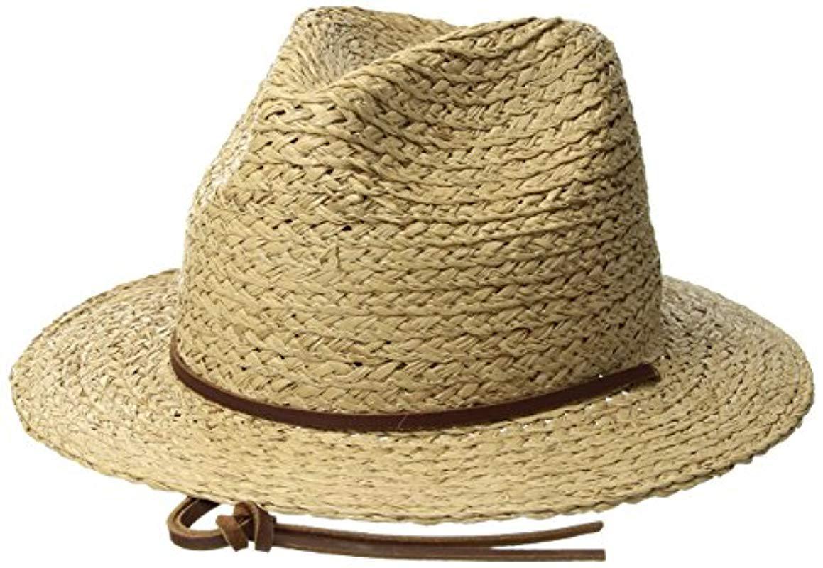 099b1c4fab1 Lyst - Brixton Levon Short Brim Straw Fedora Hat for Men - Save 56%