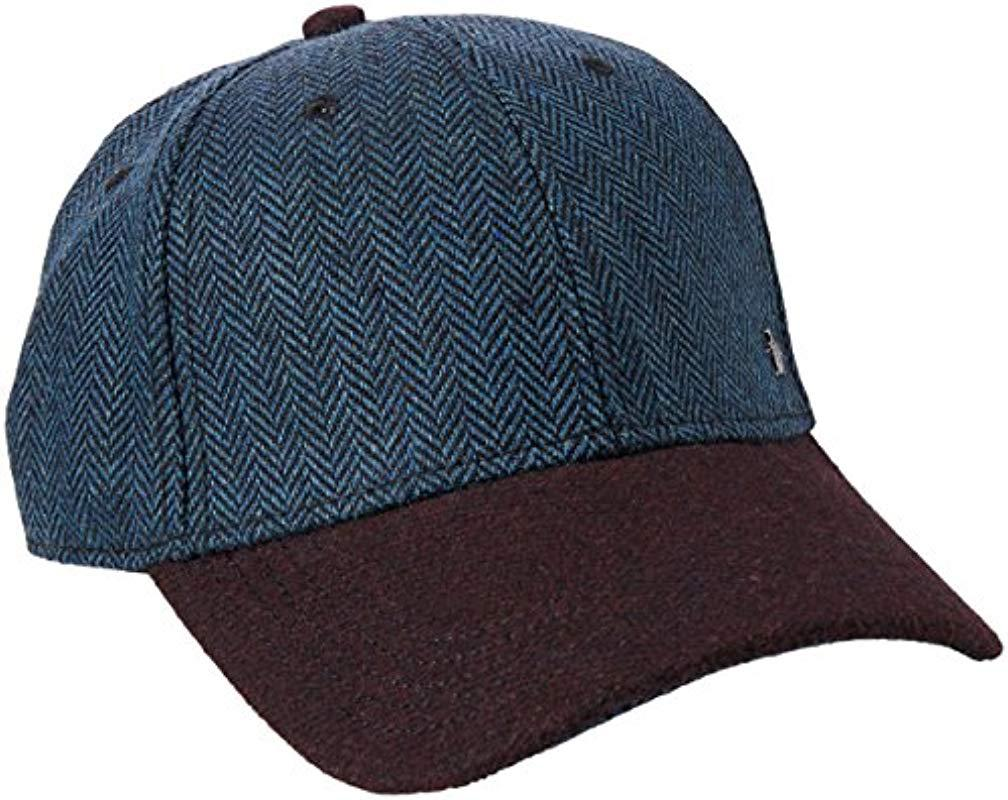 Lyst original penguin wool herringbone ball cap in blue for men jpg  1008x800 Penguin ball cap 09346e5684ae