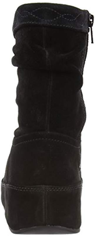 986ccd8d7cee Fitflop - Black Crush Suede Zip