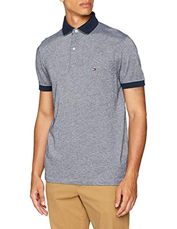 7c392499d Tommy Hilfiger Printed Undercollar Regular Polo Shirt in Blue for ...