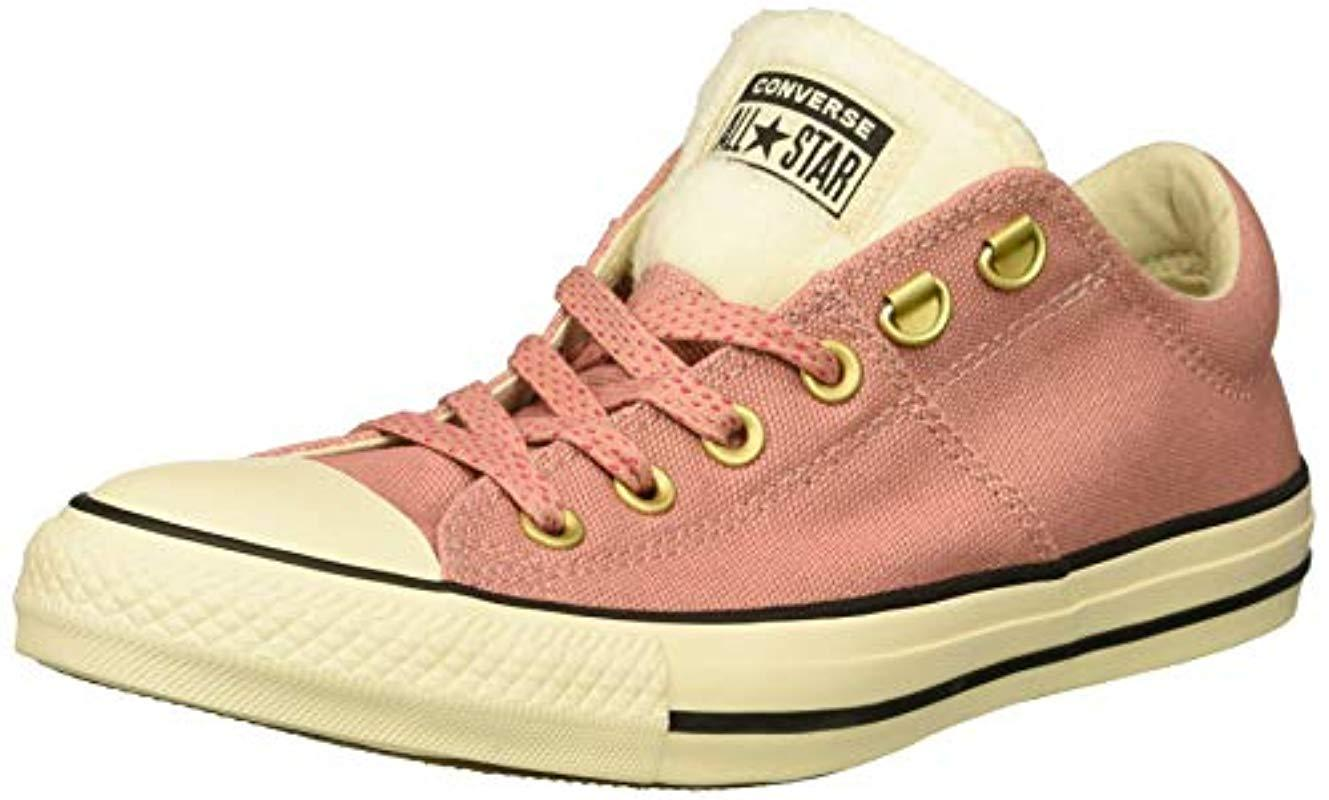 292a7d52f5 Converse - Pink Chuck Taylor All Star Faux Fur Madison Low Top Sneaker -  Lyst. View fullscreen