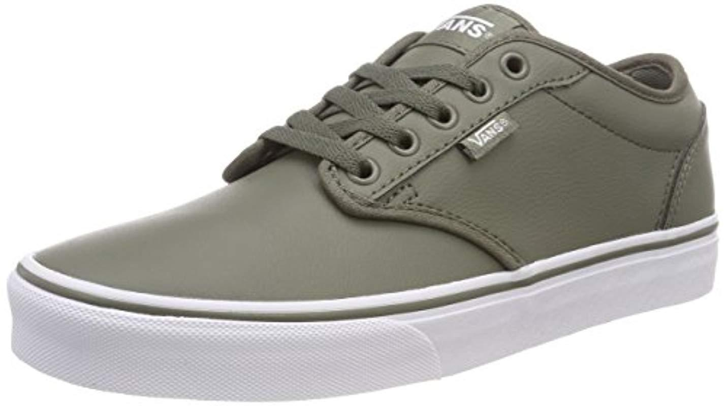 cf54f67a5 Vans Atwood Synthetic Leather Low-top Sneakers in Green for Men - Lyst