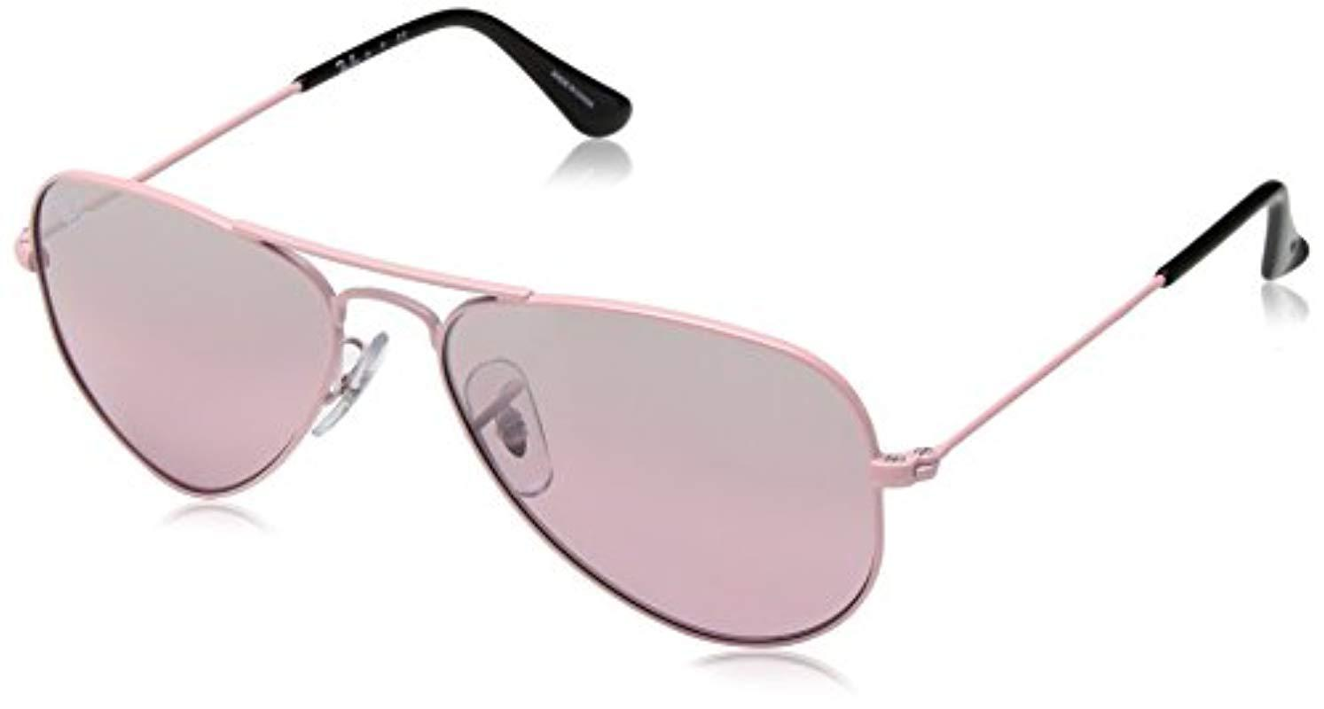257a583a8ba69 Lyst - Ray-Ban Jr. Kids Sunglasses Metal in Pink for Men