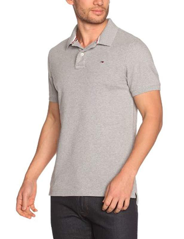 8f82417e Tommy Hilfiger Pilot Flag Short Polo Shirt in Gray for Men - Lyst