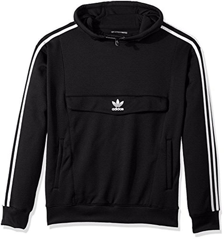 Lyst adidas Originals abrigo anorak con capucha, negro / Black, Medium