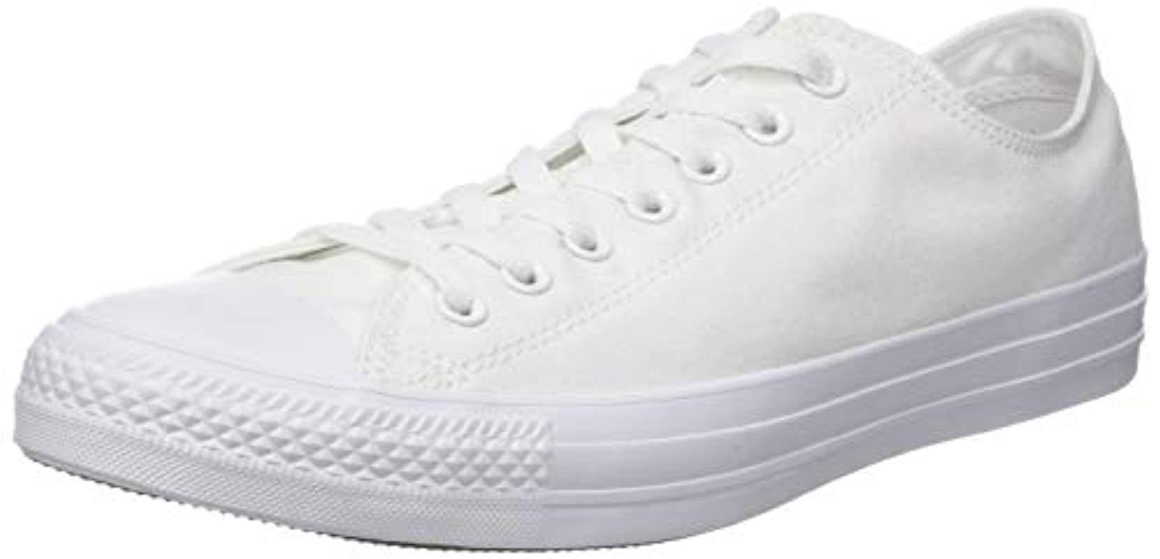 Converse. Men's White Chuck Taylor All Star Mono Leather Ox ...