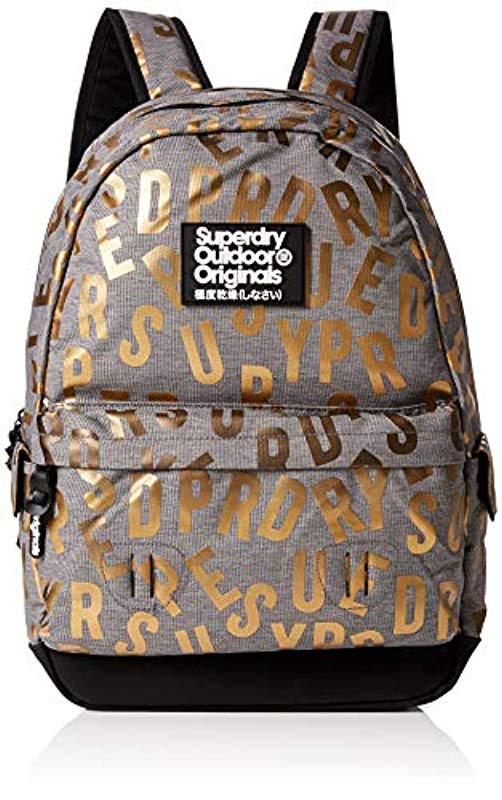 Superdry Print Edition Montana Backpack in Gray - Lyst 26092c22e2f96