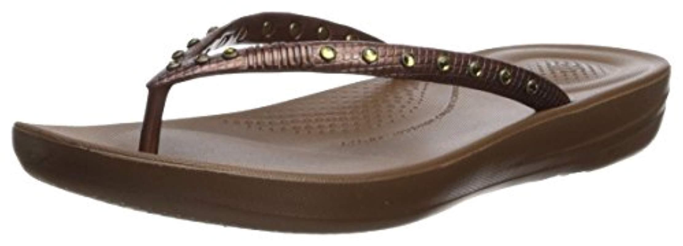 15315475f2e83 Fitflop. Women s Brown Iqushion Ergonomic Flip Flops-crystal Slide Sandal  Silver