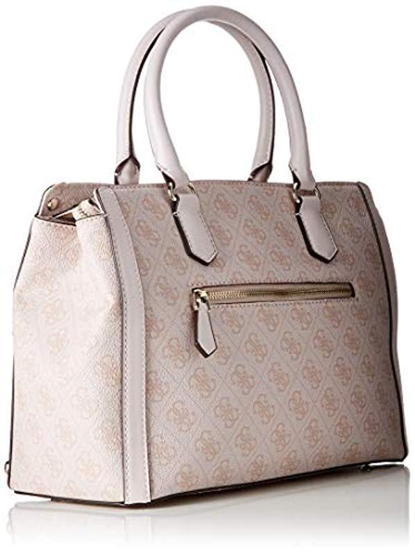 Guess - Pink Badlands Top-handle Bag - Lyst. View fullscreen 3527351fc8ffb