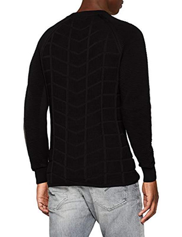G-Star Raw Suzaki Moto R Knit L s Jumper in Black for Men - Lyst 9aaab93d70cc
