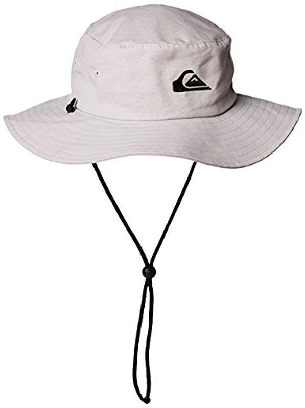 779d9b0375d4a5 ... sale lyst quiksilver bushmaster floppy sun beach hat for men 35bc0 1a65e
