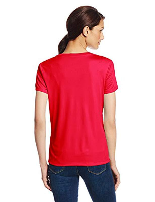 1e9240a13ecfdf Lyst - Hanes Sport Cool Dri Performance V-neck Tee in Red - Save 10%