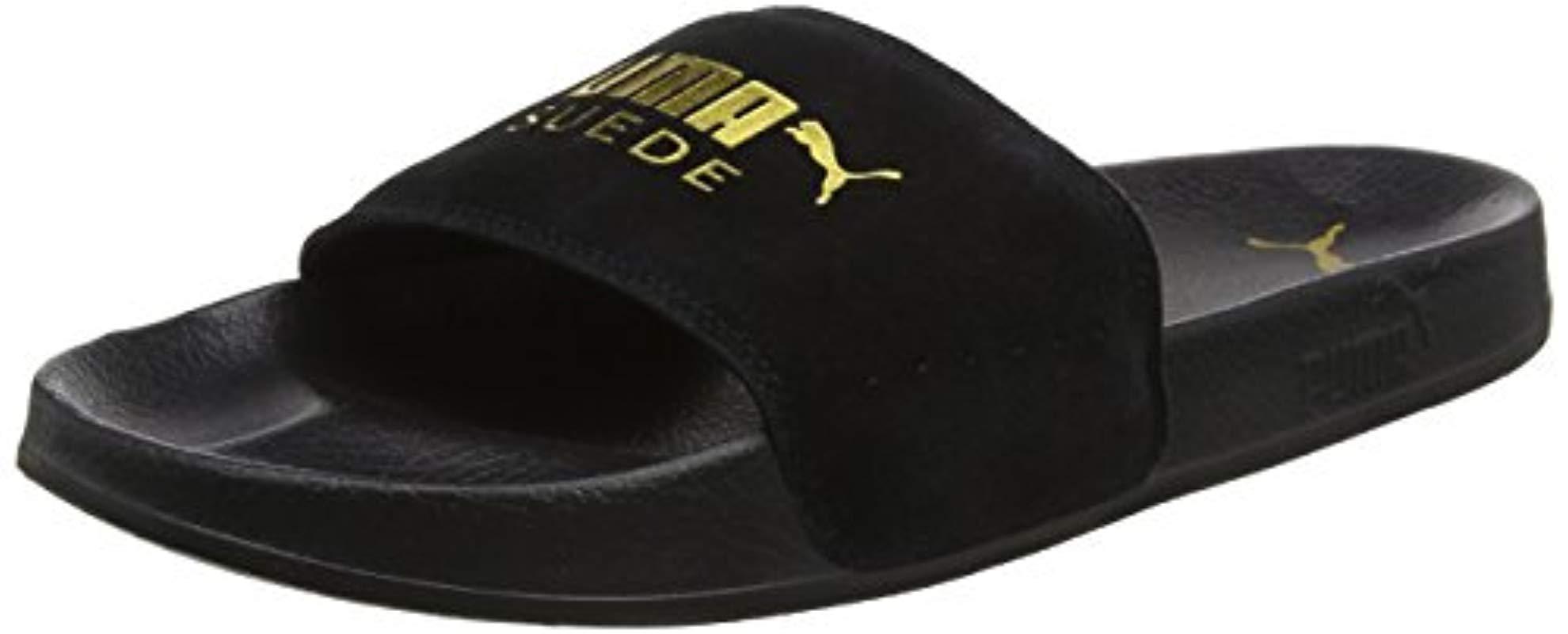 14cc4c8b5d515f Puma Leadcat Suede Slide Sandal in Black for Men - Lyst