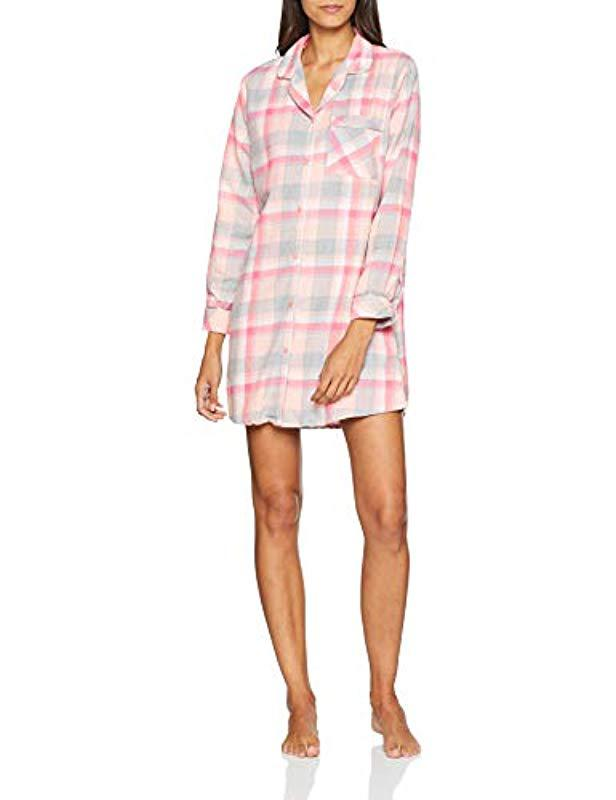74234d6b0568 Dorothy Perkins Check Night Shirt Nightie in Pink - Lyst