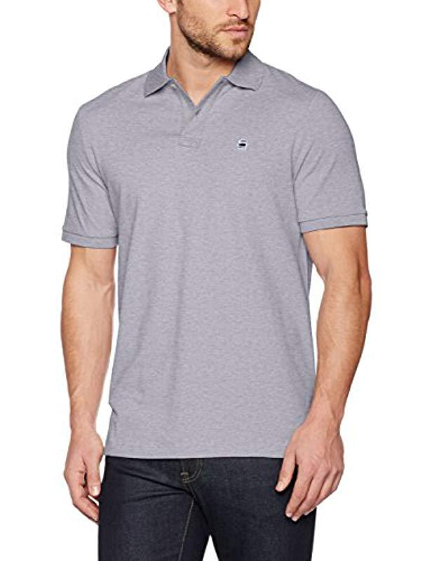 11f7f95334e G-Star Raw Dunda T S s Polo Shirt in Gray for Men - Lyst