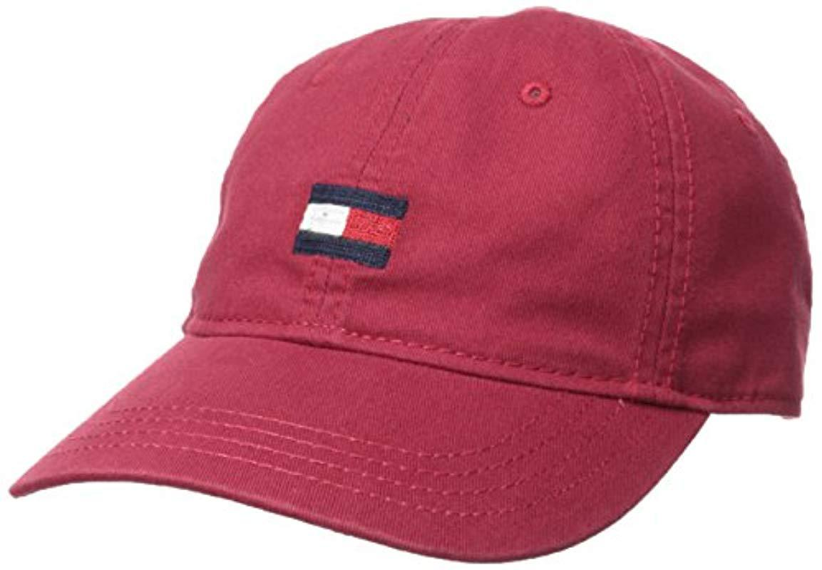 sale retailer 42b52 1f248 ... spain tommy hilfiger. mens red ardin dad baseball cap a5624 174c4