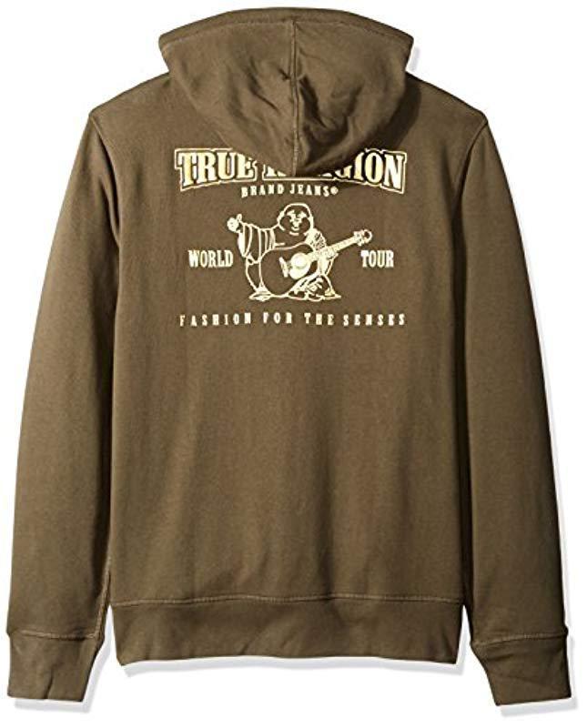 aa677f4b80887 True Religion Metallic Buddha Hoodie2 in Green for Men - Save 38% - Lyst