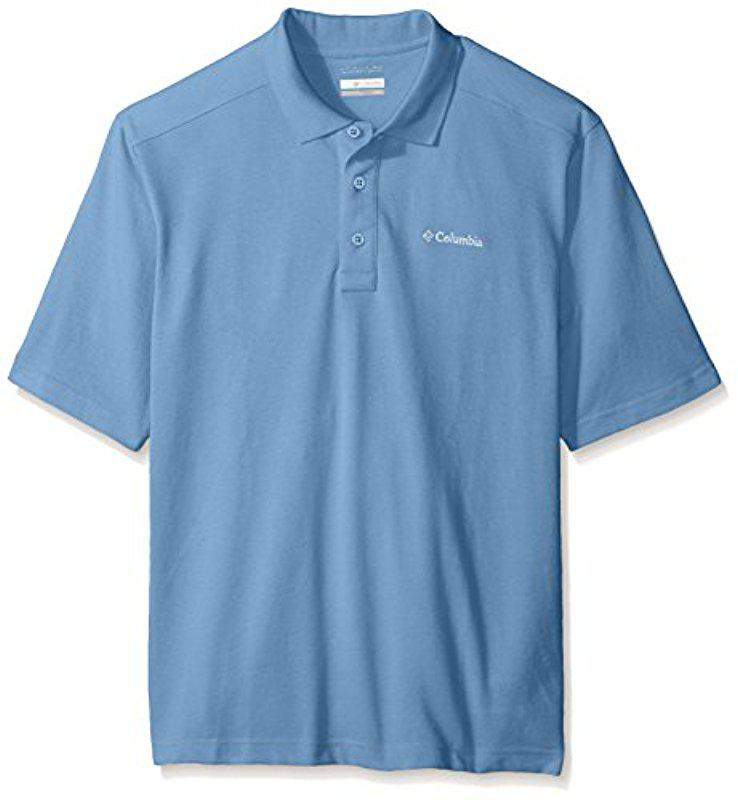 02063d9ca34 Lyst - Columbia Tall Plus Size Elm Creek Polo in Blue for Men