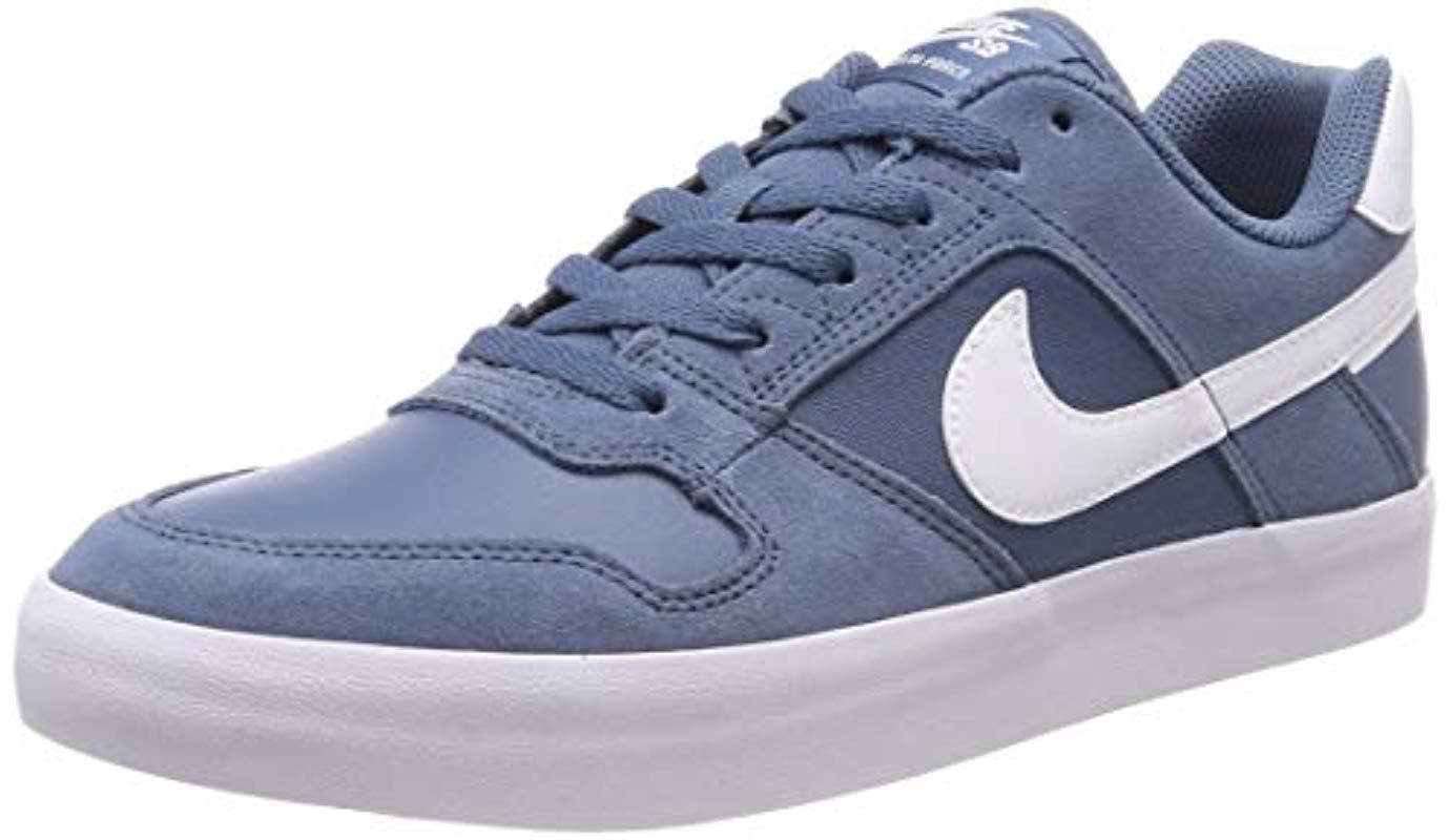 hot sale online 983a9 2971c Nike Sb Delta Force Vulc Skate Skateboarding Shoes, Blue ...