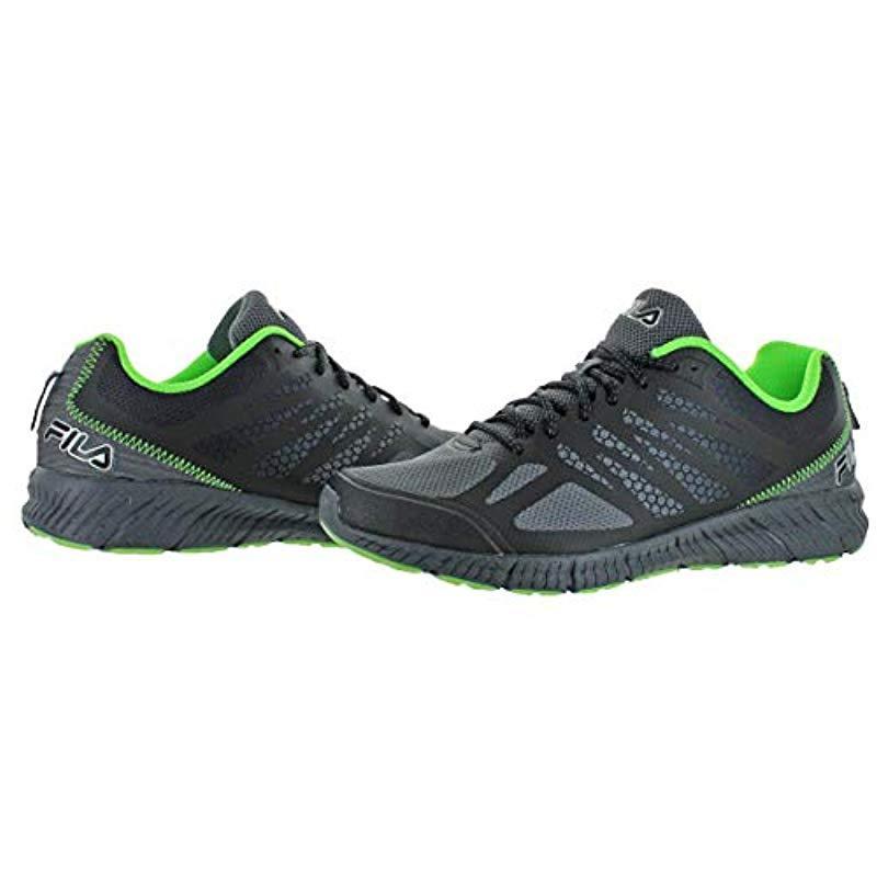 ff0f78b15eda Fila - Green Memory Speedstride Trail Running Shoe for Men - Lyst. View  fullscreen