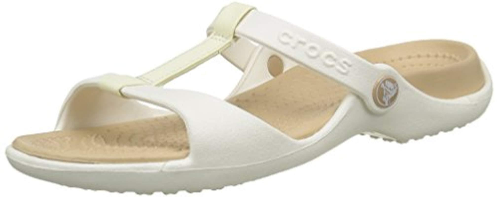 dab6f3bae40 Crocs™ Cleo Iii Sandals in White - Lyst