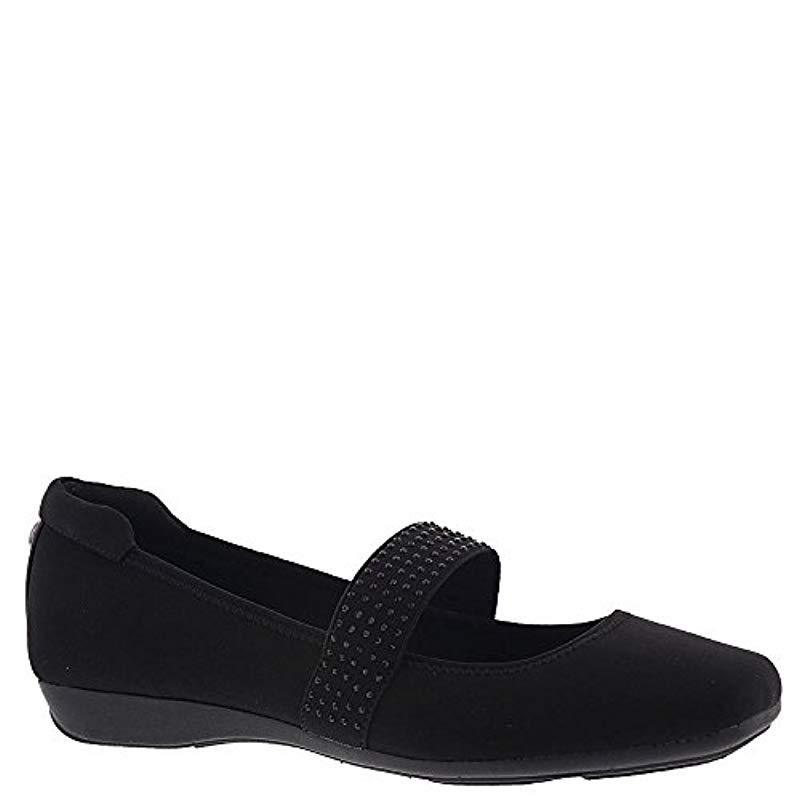 be34274582f Lyst - Anne Klein Upallnight Flat Ballet in Black - Save 41%