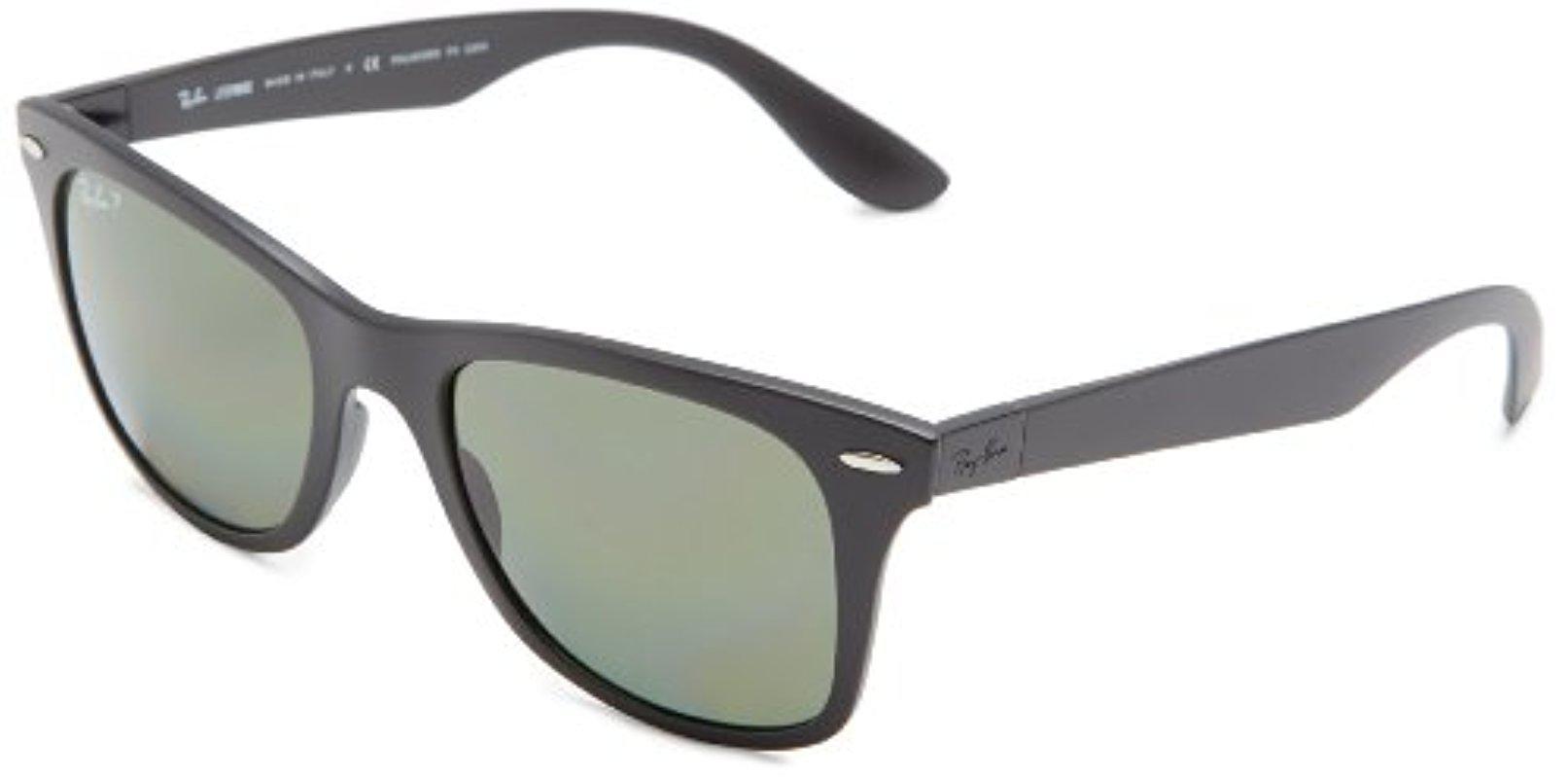 25003a12bf5 Lyst - Ray-Ban Wayfarer Liteforce - Matte Black Frame Polar Green ...