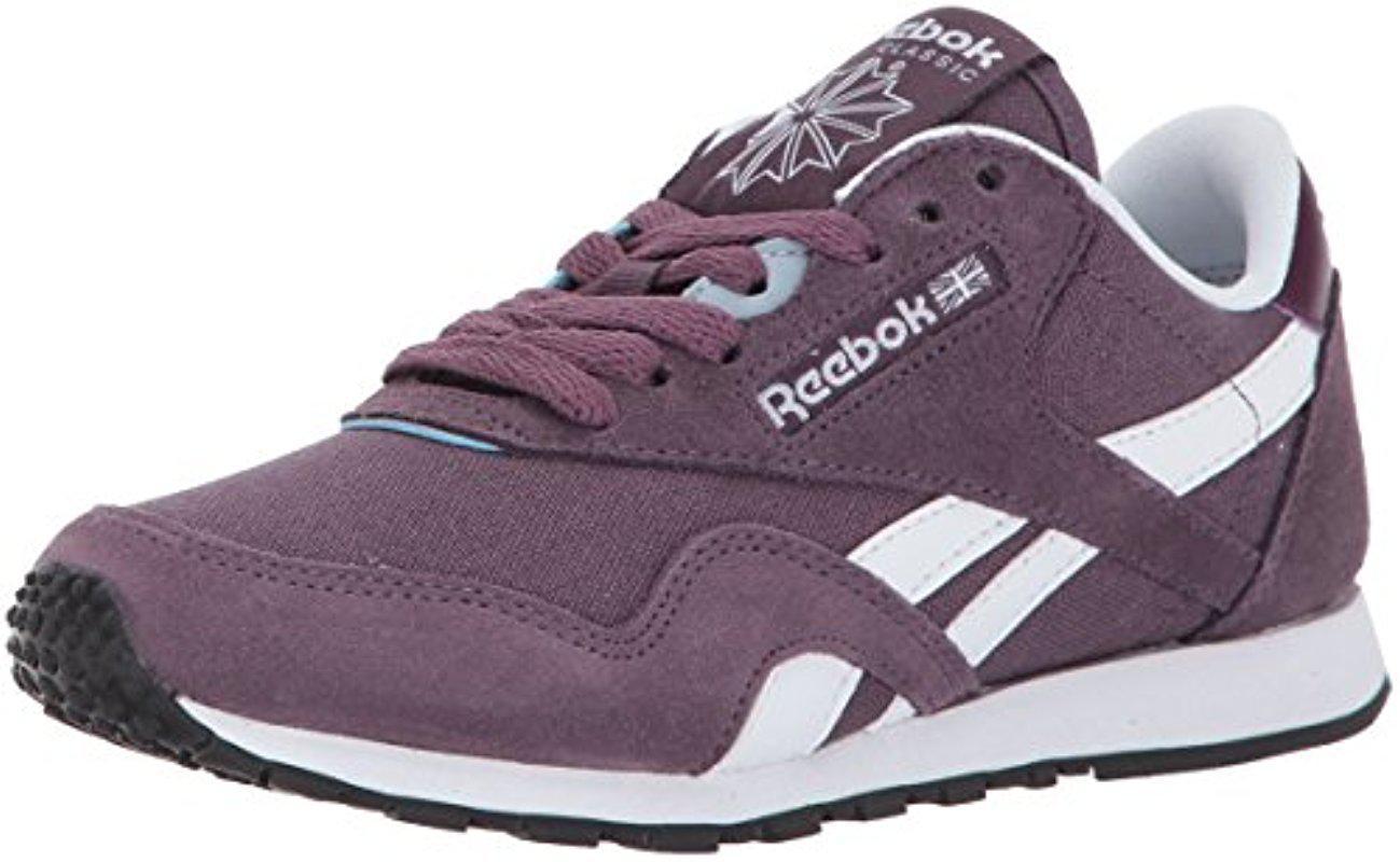 0e5ec4b78d6 Lyst - Reebok Classic Nylon Slim Hv Running Shoe in Purple