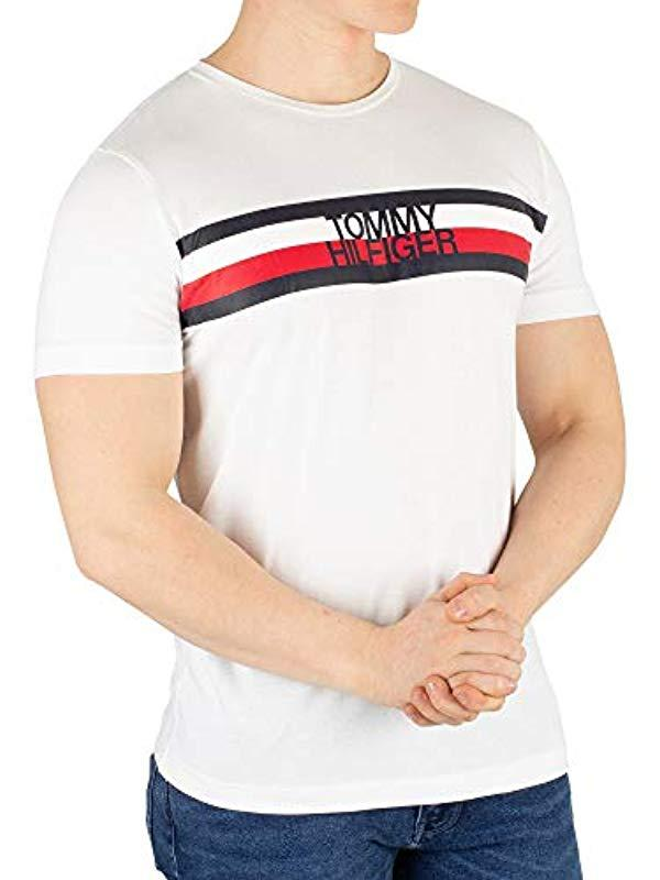 98d89a8c Tommy Hilfiger Tommy Logo Tee in White for Men - Save 35% - Lyst