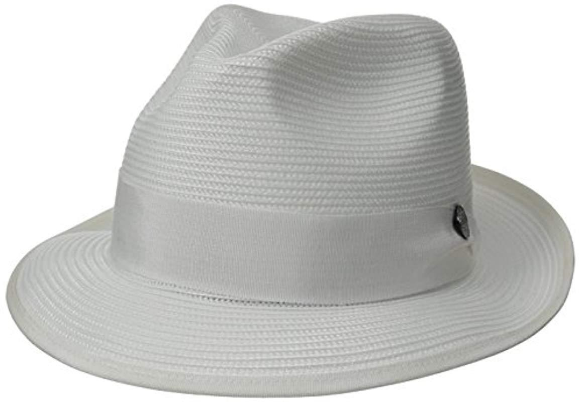 1e675e1b4f835f Lyst - Stetson Latte Florentine Milan Straw Hat in White for Men