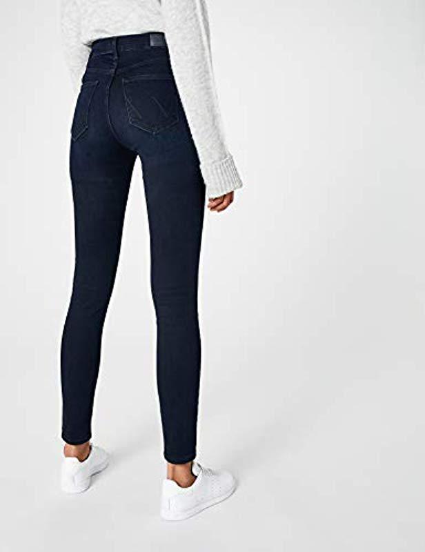 80a0c351 Wrangler - Blue High Rise Skinny Jeans - Lyst. View fullscreen