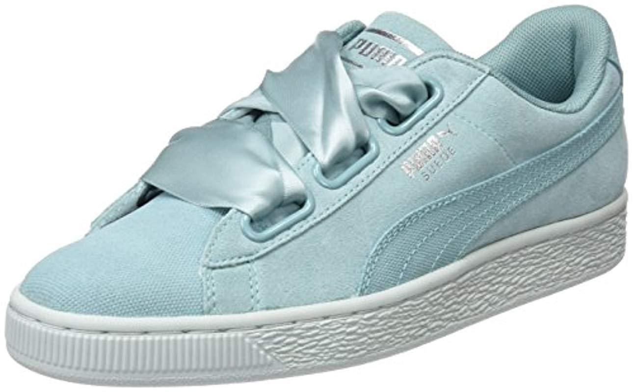 c47a58b4f531 PUMA - Blue Suede Heart Pebble Low-top Sneakers - Lyst. View fullscreen