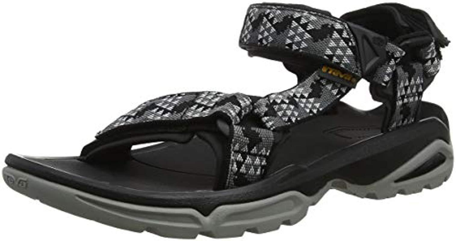 61f0411692ef Teva - Black M Terra Fi 4 Open Toe Sandals for Men - Lyst. View fullscreen