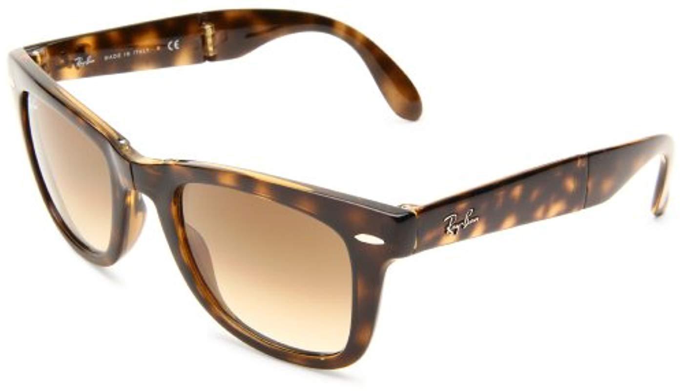 934581e5d86 Ray-Ban Folding Wayfarer Sunglasses for Men - Lyst