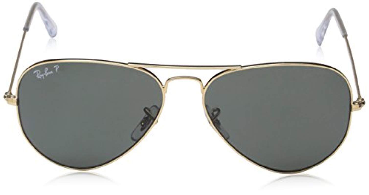 d73faab6825 Ray-Ban - Metallic Classic Aviator Sunglasses Arista Gold Crystal Green  Polarised -rb3025 001. View fullscreen