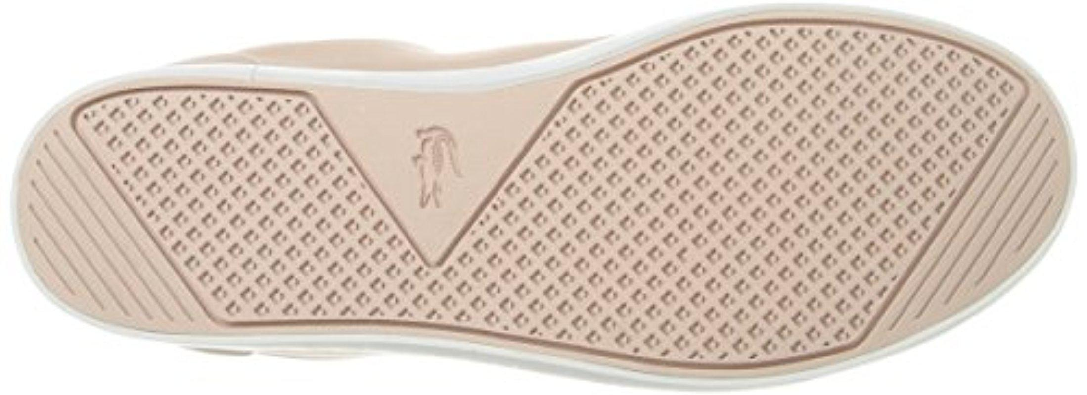 2e8d98670525e Lyst - Lacoste Straightset 316 1 Caw Fashion Sneaker in Pink