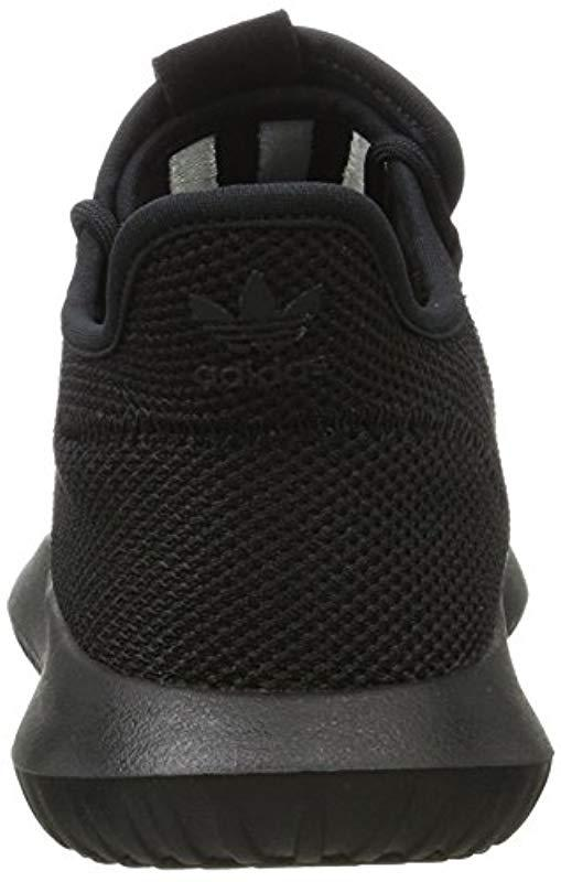super popular 46c7a ee243 Adidas - Black Tubular Shadow Knit Sneaker Low Neck for Men - Lyst. View  fullscreen