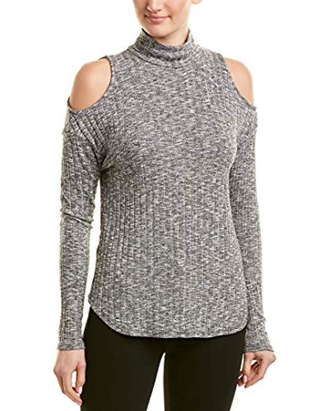 6251780c2adfad Lyst - Michael Stars Jasper Poorboy Turtleneck Cold Shoulder Top in ...