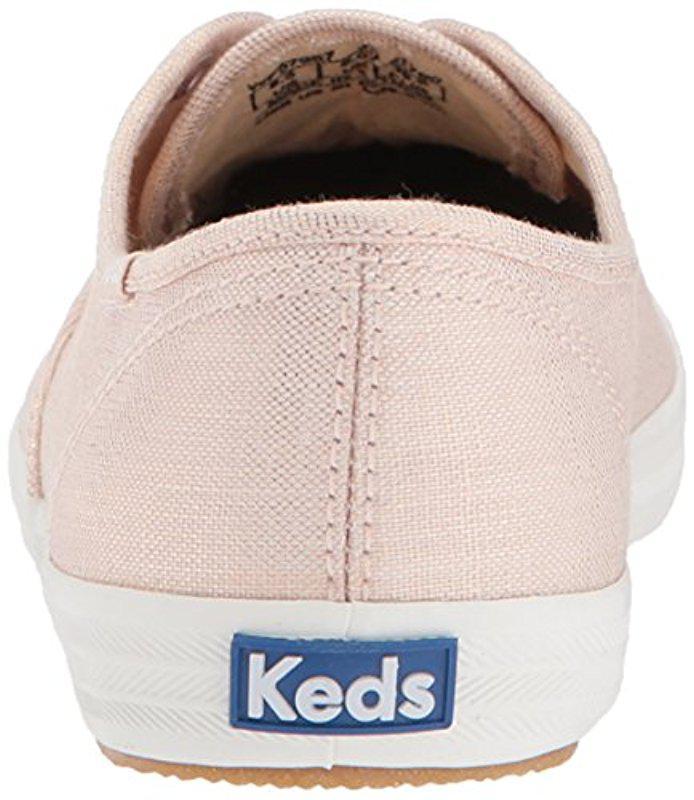 54ae3cefe0c Keds - Pink Champion Metallic Linen Sneaker - Lyst. View fullscreen