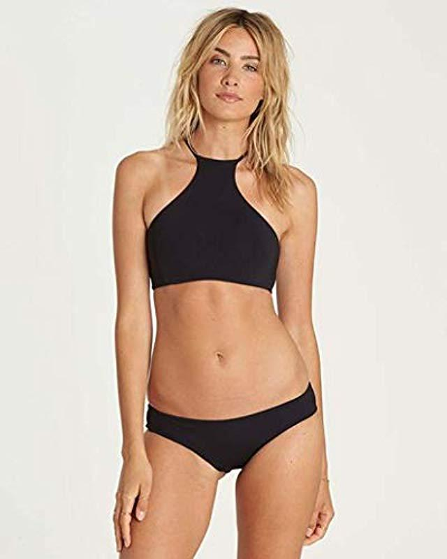 1ab2aa517d Lyst - Billabong Sol Searcher Hi Neck Bikini Top in Black - Save 42%