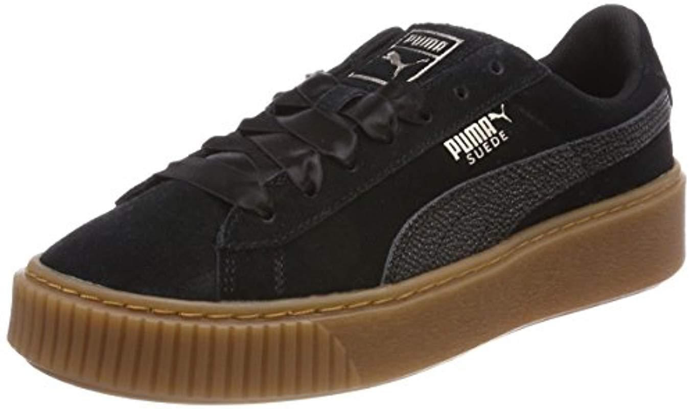 a03ab76a421de9 PUMA  s Suede Platform Bubble Wn s Trainers in Black - Save 41% - Lyst