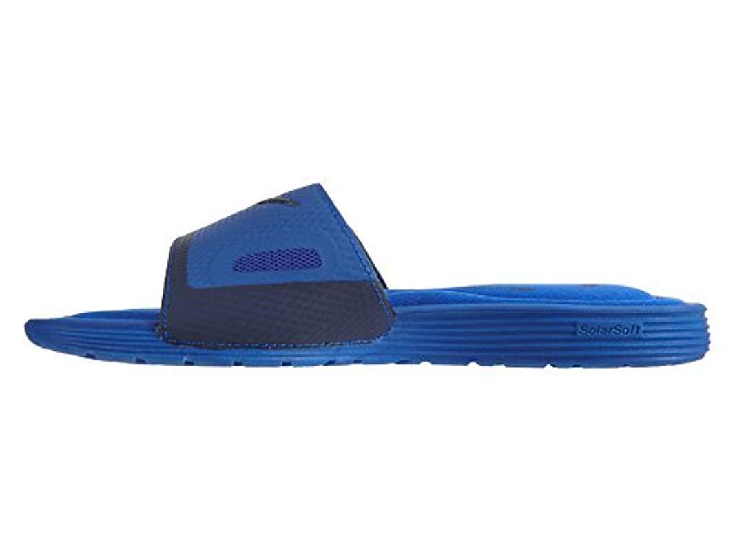 34503119ab3f Nike - Blue Solarsoft Comfort Slide Sandal for Men - Lyst. View fullscreen