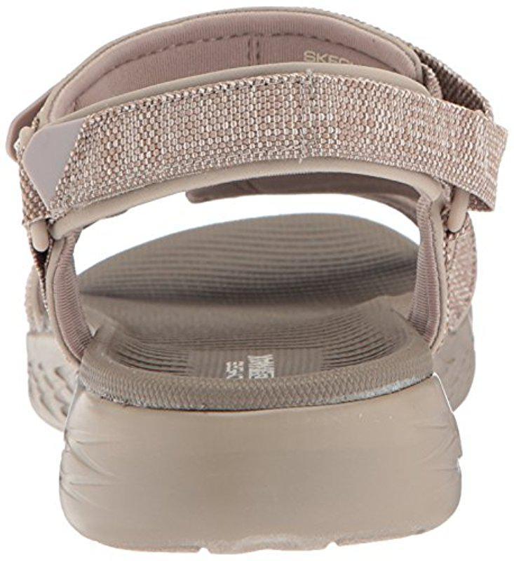 8913f27660b2 Skechers - Multicolor On-the-go 600-15315 Sport Sandal - Lyst. View  fullscreen