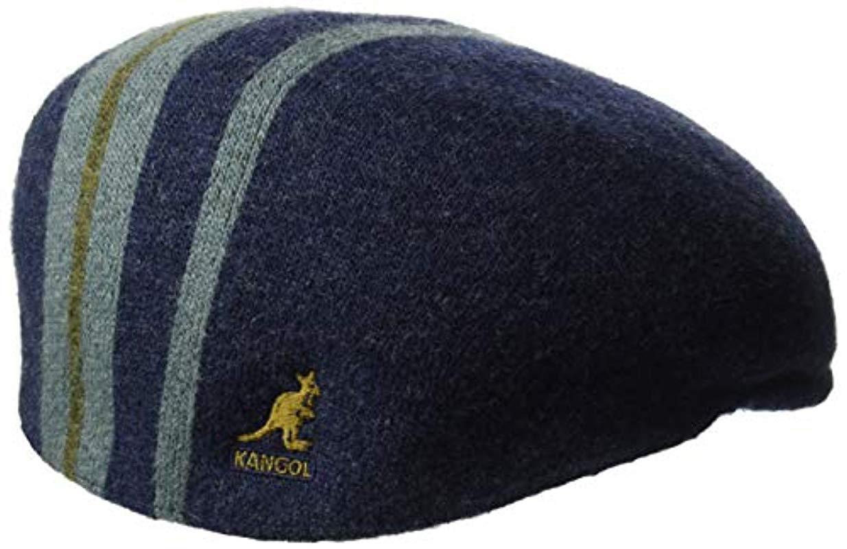 b93113a9 Kangol Identity Stripe 504 Flat Ivy Cap Hat in Blue for Men - Lyst