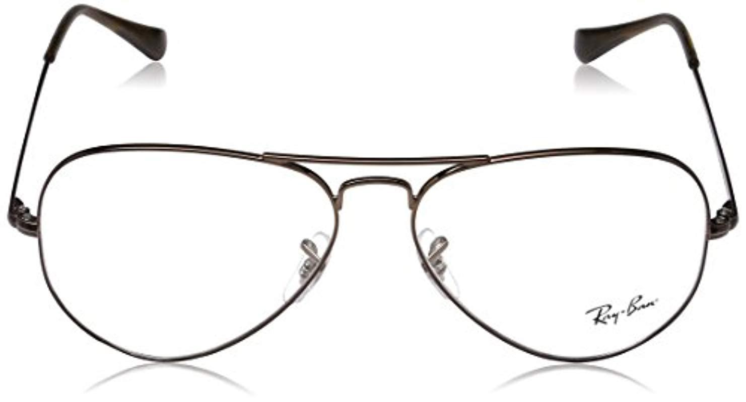 Ray-Ban 0rx 6489 2531 58 Optical Frames, (light Brown) in Brown - Lyst 7baeaf2080b7