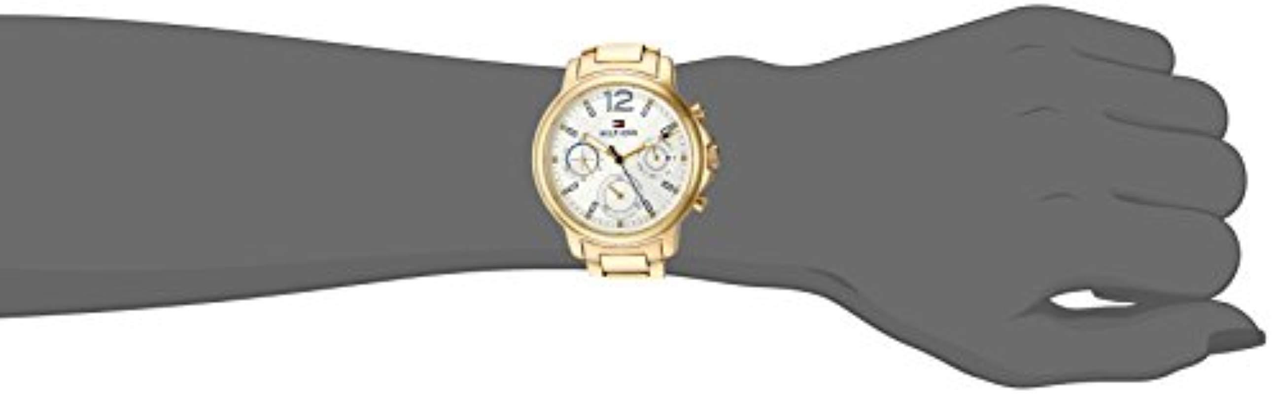 78d690b3 Tommy Hilfiger - Metallic 'claudia' Quartz Stainless Steel Casual Watch,  Color:gold. View fullscreen